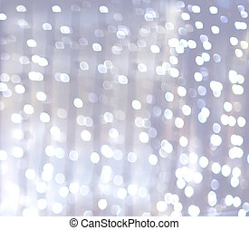 abstract background - silver and white bokeh lights...