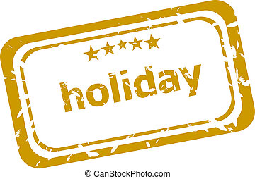 holiday stamp isolated on white background