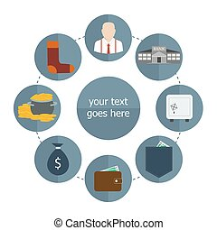 saving money vector - vector illustration of saving money...