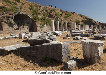 Ancient ruins of Pergamon - Ancient ruins of Upper Gymnasium...