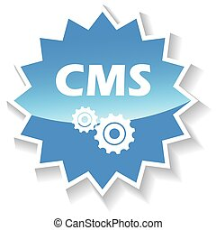 Cms blue icon - Cms web blue icon on a white background....