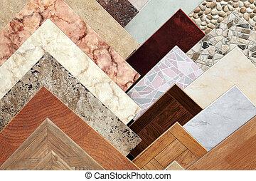 ceramic tile - Samples of a ceramic tile in shop