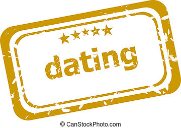 dating stamp isolated on white background