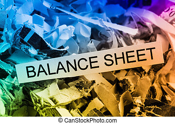 shredded paper balance sheet - shredded paper tagged with...