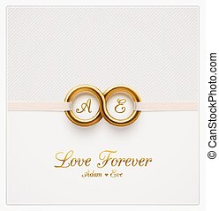 Love Forever - Love forever, wedding invitation, eps 10