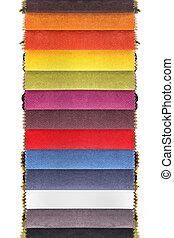 Meterial samples - Colorful fabric samples decor material...