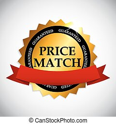 Price Match Label Vector Illustration EPS10