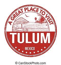 Tulum stamp