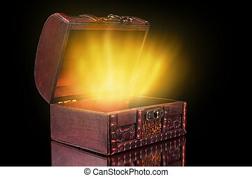 the chest - vintage treasure chest with light