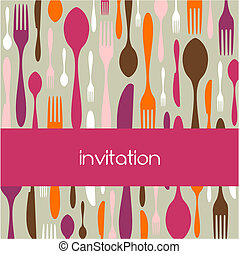 Cutlery pattern invitation