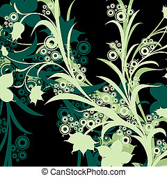 abstract design - abstract floral composition; design with...