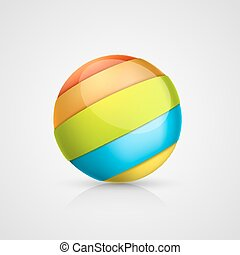 Colorful ball of tape