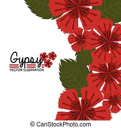 Flamenco design, vector illustration - Flamenco design over...