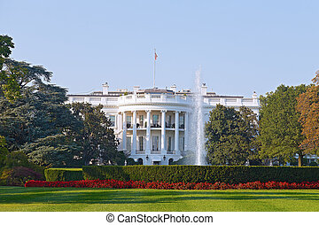 The White House in Washington DC US President residence in...