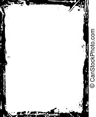 grunge border - black and white grunge border illustration