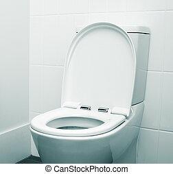 toilet - white home toilet closeup