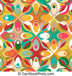 Abstract geometric seamless pattern inspired by 1970s...