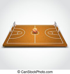 Basketball 3d field