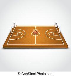 Basketball 3d field