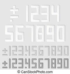 Number sings Vector illustration art set white