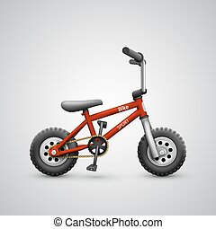 Bicycle child on a white background
