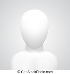 Vector dummy on white background