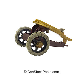 Crossbow cannon toy - Isolated ancient middle age crossbow...