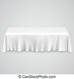 Table with tablecloth white illustration art 10eps