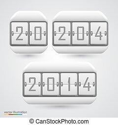 Numeric scoreboard. Vector - Numeric scoreboard icon...