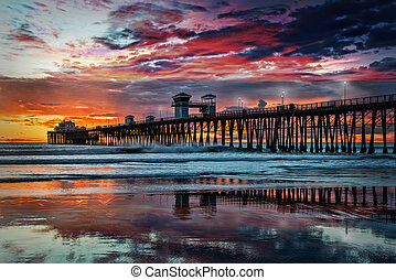 Colors of the Oceanside Pier - The Oceanside Pier is...