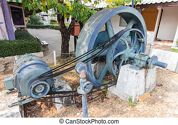 Old diesel generator machine - Generators old started the...