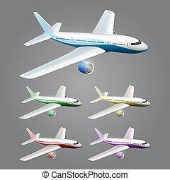 Illustration of an aircraft art Vector illustration