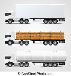 Cargo traffic set art sign. Vector illustration