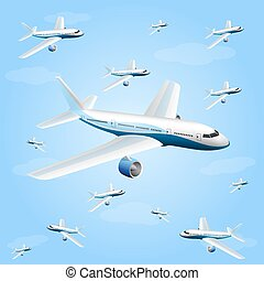Illustration of an aircraft art Vector illustration
