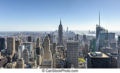 New York City Skyline - Aerial view of the New York City...