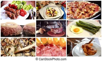 mediterranean cuisine, collage - collage including diverse...