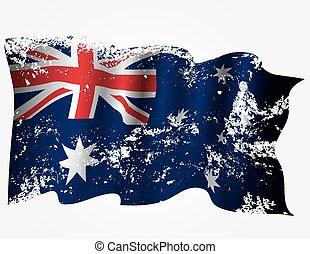 Australia or Australian grunge flag Eps10