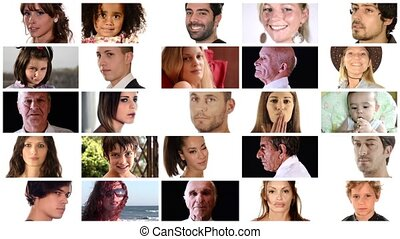 people, collage - Diverse people montage
