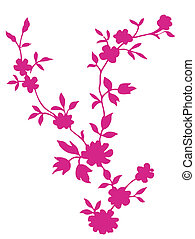 red flower texture - a vivid illustration of a pink single...
