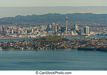 aerial view of Auckland and Devonport