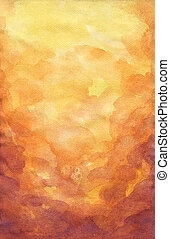 Abstract Watercolor Texture - Watercolor on paper and...