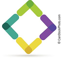 logotipo, abstratos, negócio, cartão,