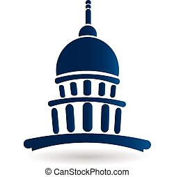 Capitol building temple icon logo