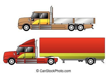 Convetional trucks with double cab and various chassis...