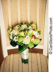 bridal bouquet with white flowers - bridal bouquet with...