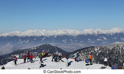 snow mountains ski Jasna Slovakia - SLR Full HD progressive...