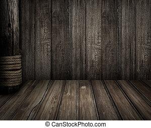 viejo, Piratas, de madera, escena, tema, Plano de fondo
