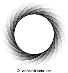 vector aperture - focus - Vector illustration of the...