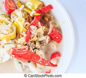 Crab soup - tom yam - tom yam crab Thai Food