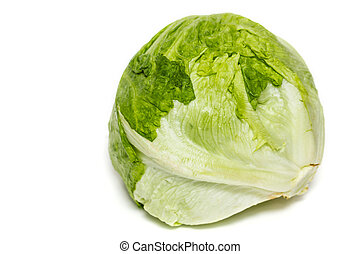 Salad iceberg Iceberg Lettuce isolated on white